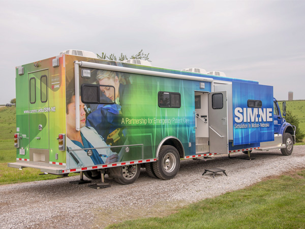 SIM-NE truck on location at rural site