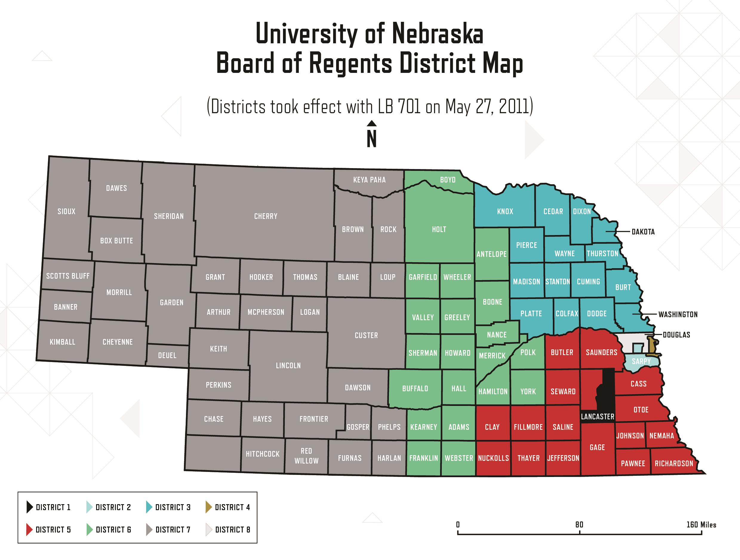 Nebraska District Map