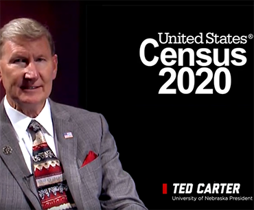 Screencap of President Ted Carter talking about the 2020 Census