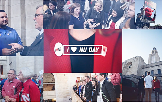 Collage of different pictures from I love NU day
